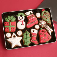 Christmas Tree Decoration cookie gift tin (17.50)