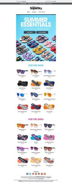 Superdry Summer Essentials Email / Newsletter Design