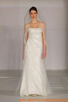 2013 Preiswerte lange Brautmode aus Satin