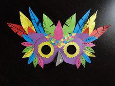 masque papier oiseau  Atelier 3b la boite à idées créatives pour les enfants