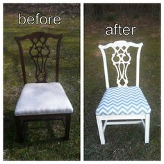 Simple U0026 Chic Designs : Diy: Dining Room Chair Makeover