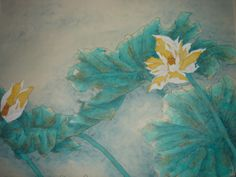 Lotus. Artist Christine Bideau exhibits at Art for Youth London.