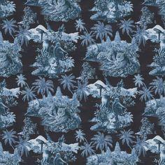 SUMATRA Wallpaper Midnight / Azure