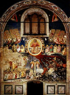 Giotto´s painting in the Scrovegni Chapel in Padua
