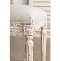 Eloquence® Boudoir Bench in Weathered White
