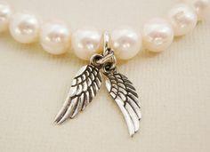 1 Freshwater Pearl Bracelet Cream White sterling Angel by DiBA
