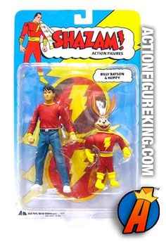 6-inch scale Billy Batson and Hoppy action figures from DC Direct. Visit ActionFigureKing.com for a huge database of new and vintage collectibles. #captainmarvel #shazam #billybatson #dcdirect