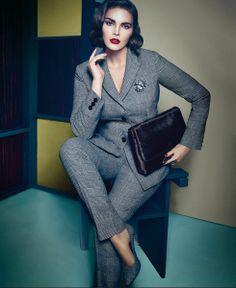 Candice Huffine for Marina Rinaldi Fall 2012