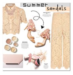 """""""Summer sandals"""" by e-mina-87 ❤ liked on Polyvore featuring self-portrait, Rupert Sanderson and summersandals"""