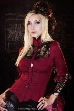Victorian Blouse Steampunk Bluse