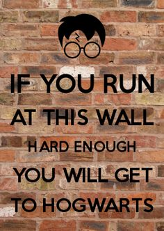 IF YOU RUN AT THIS WALL HARD ENOUGH YOU WILL GET TO HOGWARTS