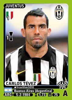 Tevez Football Stickers, Football Cards, Football Soccer, Baseball Cards, Juventus Fc, Zinedine Zidane, Fifa, Turin, Club