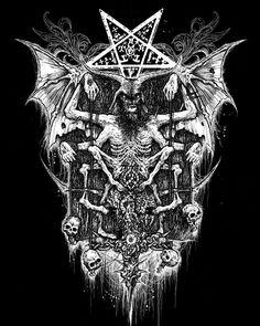 Satanic art. Baphomet.