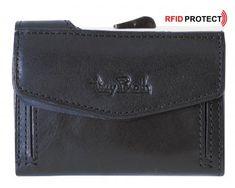 Kartenetui Furbo by Tony Perotti RFID Münzfach schwarz Leder Navy Blue, Card Holder, Wallet, Cards, Black Leather, Dark Blue, Hang In There, Bags, Rolodex