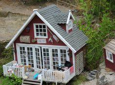 "Dollhouse, Sjøbua, ""The Retreat"", made by Hild-Tove Hellander Aslaksen, Arendal. Norway."