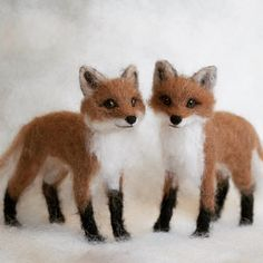 Felt Fox, Wool Felt, Needle Felted Animals, Felt Animals, Baby Red Fox, Needle Felting Tutorials, Fox Art, Cute Fox, Wet Felting