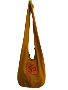 Thai Monk Sling Shoulder Bag Mustard with Red | Sure Design. $14.50 http://www.suredesigntshirts.com/