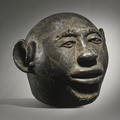 Makonde Terracotta Mask, Mozambique or Tanzania Height: 8 7/8 in (22.5 cm)  READ note