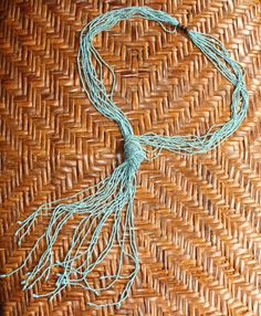 Unique Vintage Handmade Turquoise Bead Necktie Necklace