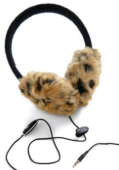 WHAT?!  Cheetah earmuffs and headphones all in one?  NEED!