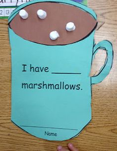 Hot Cocoa & Marshmallow Counting Craft/Activity