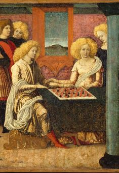 Liberale da Verona, The Chess Players, c. 1475 (detail), Met Museum Original: https://s-media-cache-ak0.pinimg.com/736x/45/be/8d/45..