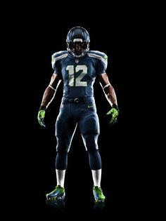 Seattle Seahawks new uniform ...  fat football players will not look this good.