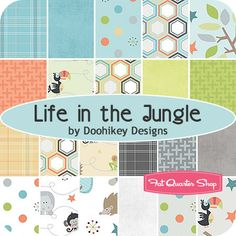Life in the Jungle Rolie Polie Doohikey Designs for Riley Blake Designs (x2)