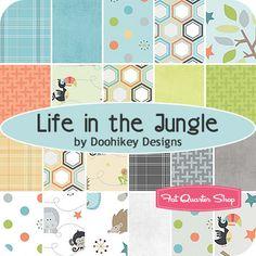 Life in the Jungle Fat Quarter Bundle Doohikey Designs for Riley Blake Designs - Fat Quarter Shop
