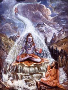 "SB 9.9.9: When King Bhagīratha approached Lord Śiva and requested him to sustain the forceful waves of the Ganges, Lord Śiva accepted the proposal by saying, ""Let it be so."" Then, with great attention, he sustained the Ganges on his head, for the water of the Ganges is purifying, having emanated from the toes of Lord Viṣṇu."