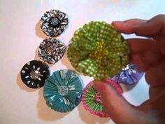 cupcake liner flowers for scrapbooking