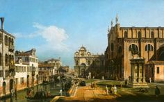 Bernardo Bellotto The Campo di SS. Giovanni e Paolo, Venice 1743/1747.