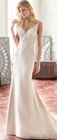 $144.09-V-Neck Maxi Appliqued Chiffon Long Wedding Dress With Open Back. http://www.ucenterdress.com/v-neck-maxi-appliqued-chiffon-wedding-dress-with-sweep-train-and-v-back-pMK_705777.html. Free Custom-made & Free Shipping! Shop lace wedding dress, strapless wedding dress, backless wedding dress, with sleeves, mermaid wedding dress, plus size wedding dress, We have great 2016 best Wedding Dresses on sale at #UcenterDress.com today! #wedding #dress