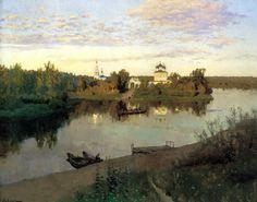 Isaak Levitan - Evening Bell. 200 Russian painters • download painting • Gallerix.ru