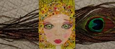 """Beads, colored pencils & beeswax...all on a 3.5"""" x 2.5"""" card!"""