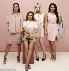 Little Mix come over all ladylike in pink on recent Legally Blonde inspired shoot | Mail Online
