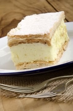 Buy custard cake on a plate by Szakaly_DISABLED on PhotoDune. home made custard cake on a plate No Bake Desserts, Dessert Recipes, My Recipes, Cooking Recipes, Custard Cake, Romanian Food, Foods To Eat, Sweet Cakes, Pinterest Recipes