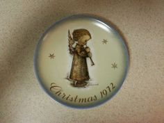 "Hummel - Christmas Plate Limited Edition 1972 ""Engel mit Flote"""