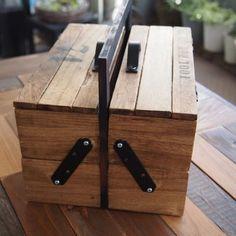 100均すのこと木箱とフォトフレームでTOOLBOX(工具箱)