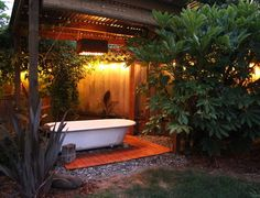 Outdoor tub needs to fit two great idea unlike a hot tub No chemicals