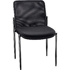 Staples Roaken Mesh Guest Chair with Arms, Black | Staples