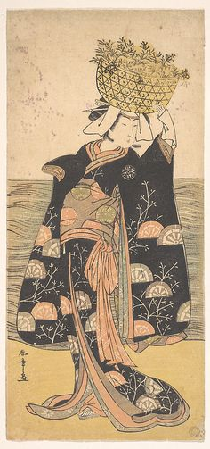 The First Nakamura Nakazo in the Role of the Ghost of Shiragiku  Katsukawa Shunshô  (Japanese, 1726–1792)  Period: Edo period (1615–1868) Date: ca. 1778 Culture: Japan Medium: Polychrome woodblock print; ink and color on paper