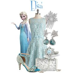 """Dapper Day 2014: Elsa"" by bleeanco on Polyvore"