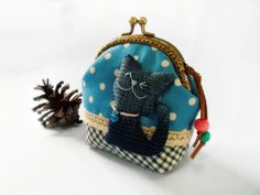 Coin purse, Cat purse, Metal frame purse, 10 cm frame purse, kitty coin purse - Made to order op Etsy, 20,22€