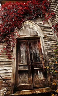 Old beautiful church door