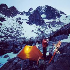Coffee in the mountains:  A 24hr climb up the Sherpa Glacier on Mount Stuart, one of the tallest peaks in the Cascades.