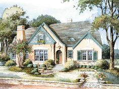 French Country House Plan with 2680 Square Feet and 3 Bedrooms(s) from Dream Home Source | House Plan Code DHSW42721