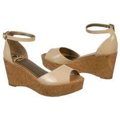 $54.99 FERGALICIOUS Flutter Sandals Taupe Patent Women`s Sandals class