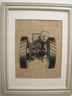 Could make with proper printer/materials Burlap Wall Decor, Fabric Wall Decor, Burlap Art, Tractor Nursery, Farm Nursery, Nursery Art, Burlap Monogram, Monogram Wedding, Baby Boy Rooms