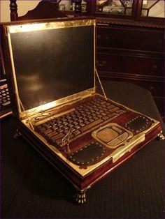 Ordinateur portable de Datamancer Steampunk Laptop
